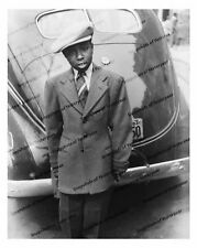 Vintage photo-African American Boy in hat-Car-8x10 in.