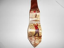 Golf Tie, Brown,Beige and Red
