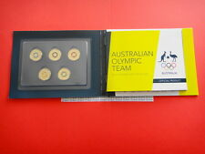 2016  Australian Olympic 5 Coins Coloured Collection Set  Folder  UNC Condition