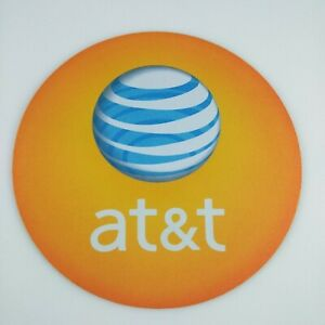 AT&T Mouse Pad Round Rubber ATT Mouse Pad Orange 8x8 inches