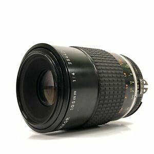 *EXC* Nikon Micro Nikkor Ai-s 105mm f/4 MF Macro Telephoto Lens for F Mount