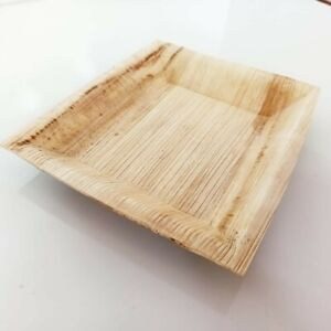 Paper Plates Rectangular Shape Areca Leaf 10 Plates 100% Natural Eco-friendly