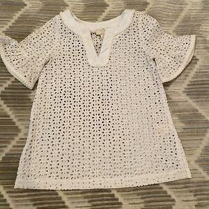 Kate Spade Dress Eyelet White Cotton Size Girls Toddlers 3 Years