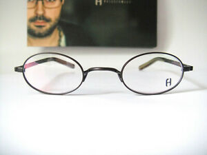 Freudenhaus Titanium Small lens Fit 43-24 Hide 9.3 Brown Eyeglasses Frames Mens