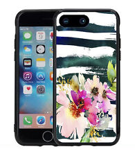 Watercolor Flower With Strips For Iphone 7 Plus & Iphone 8 Plus (5.5) Case