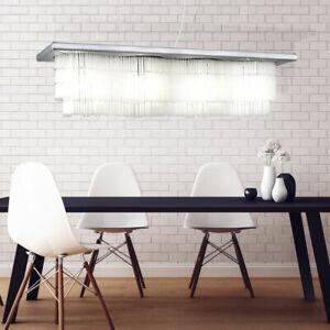 Couvercle Éclairage la Vie Chambre Verre avec Pampilles Lampe Aluminium Brossé