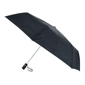 New Totes Auto Open and Close Solid Color Golf-Sized Umbrella