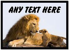 Lion et mignon Cub personnalisé table napperon