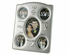 Wedding Day Collage Photo Frame, Silver Plated