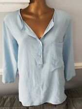 GORGEOUS ZARA BASIC 100% MULBERRY SILK SHIRT - SIZE L ** FREE DELIVERY **