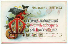 Halloween Greetings Red Witch Ay Every Enchantment of Witch & Sprite Spell Luck