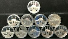 10 Coin 1984-S Proof OLYMPIC Coliseum Silver Dollar LOT OF TEN in capsules PF