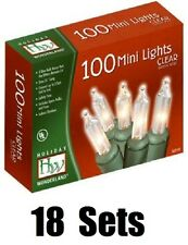 18 Holiday Wonderland 40004-88 100 Ct Clear Extra Bright Christmas Light Sets