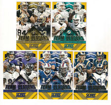 LOT OF (5) 2015 SCORE FOOTBALL GOLD PARALLEL TEAM LEADERS