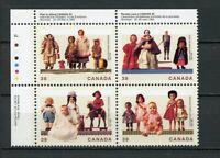 Canada MNH #1274-77 PL BL UL Dolls Toys  1990 A263