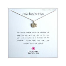 """Dogeared 925 Sterling Silver Rising Lotus 16 + 2"""" Extender Chain Necklace Boxed"""