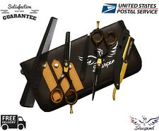 New Professional Barber Hairdressing Scissors Set Gold Edition & Razor Kit 5.5""