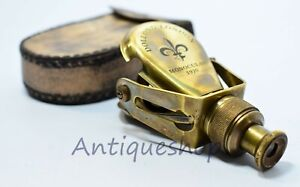 Vintage brass Monocular with leather case marine gift collection