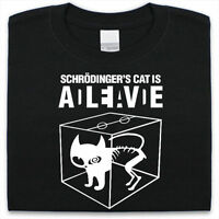 Schrodingers Cat T-Shirt Mens Womens Funny Science