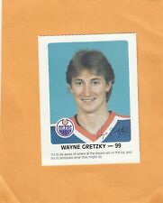 WAYNE GRETZKY PROMOTIONAL CARD by RED ROOSTER FOOD STORES 1985  see scan