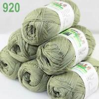 6Skeins X 50g Baby Natural Smooth Soft Bamboo Cotton Knitting Yarn Knitwear 20