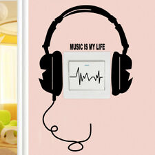 DIY Headset Switch Sticker Decal Music Is My Life Wall Stickers HU