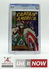 1969 MARVEL CAPTAIN AMERICA #117 ORIGIN/1ST APP FALCON & REDWING CGC 8 A2191-011