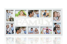 Family 10 Multi Aperture Photo Picture Frame Holds 6''X4'' Photos White