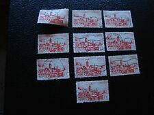 MAROC - timbre yvert et tellier n° 262A x10 obl (A29) stamp morocco (R)