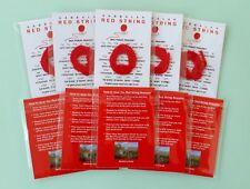 10 pcs FAMILY SET KABBALAH RED STRING PROTECTION EVIL EYE + BEN PORAT PRAYER