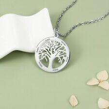 Personalised Stainless Steel Tree of Life Necklace Any Namensanhänge Gift