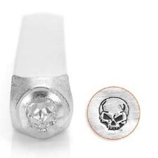 Angry Skull ImpressArt Metal Design Stamp- Steel Hand Punch, Jewelry, Crafts
