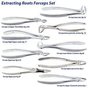 Surgical Roots Tooth Extraction Forceps for Oral Surgery Dental instruments kit
