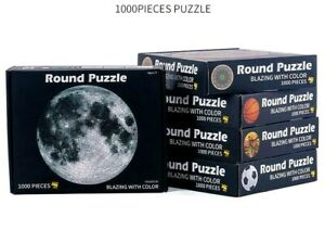 1000PCS Jigsaw Puzzle Round Shape Earth Basketball Home Toy Gift AU Stock
