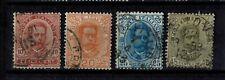 Briefmarken Italien 67 - 70 gestempelt König Umberto I.