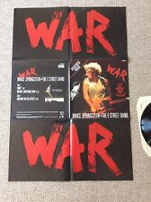 Bruce Springsteen & The E Street Band  War. 12 Inch Vinyl Single With Poster