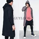 Street Designer Edge Extended Long Length Mens Hood Zipup Jersey Jacket Guylook