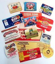 15 Different Original Vintage Syrup Labels From Ga., Mo., Ma., La., Tn., &  Vt.
