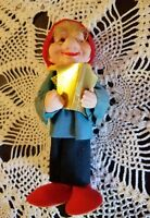 Vintage Mid Century Modern Felt Christmas Tree Ornament Caroler Old Japan Rare