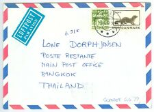DENMARK: Airmail cover to Thailand 1977.