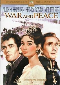 WAR and PEACE starring Audrey Hepburn (DVD, 2004) - LIKE NEW!!!