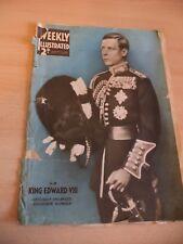 WEEKLY ILLUSTRATED OLD VINTAGE MAGAZINE 1936 1930S KING EDWARD VIII PRE ABDICATE