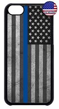 For Apple iPod 4 5 6 Hard Skin Back Case Cover Thin Blue Line Flag Police