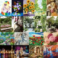 18 Type 40*50cm Flowers Lover DIY Acrylic Painting Canvas Paint By Numbers Frame