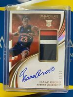 2020-21 PANINI IMMACULATE ISAAC OKORO RPA ROOKIE PATCH AUTO GOLD RC 13/25