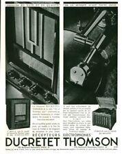Publicité ancienne radio Ducretet Thomson récepteurs 1936 issue de magazine