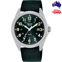 Pulsar Solar New 39mm Analogue Quartz Men's Wrist Watch PX3221X Nylon Strap
