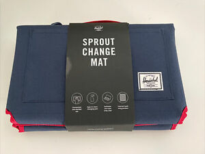 New Herschel Supply Co Designer Sprout Baby Changing Dipper Mat Carry Case Navy