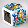 Anime Pokemon LED 7 Colors Change Night light Colorful kids Alarm Clock Gift