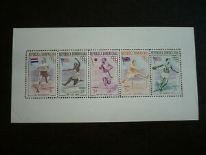 Stamps - Dominican Republic - Scott# 474-478 - Souvenir Sheet
